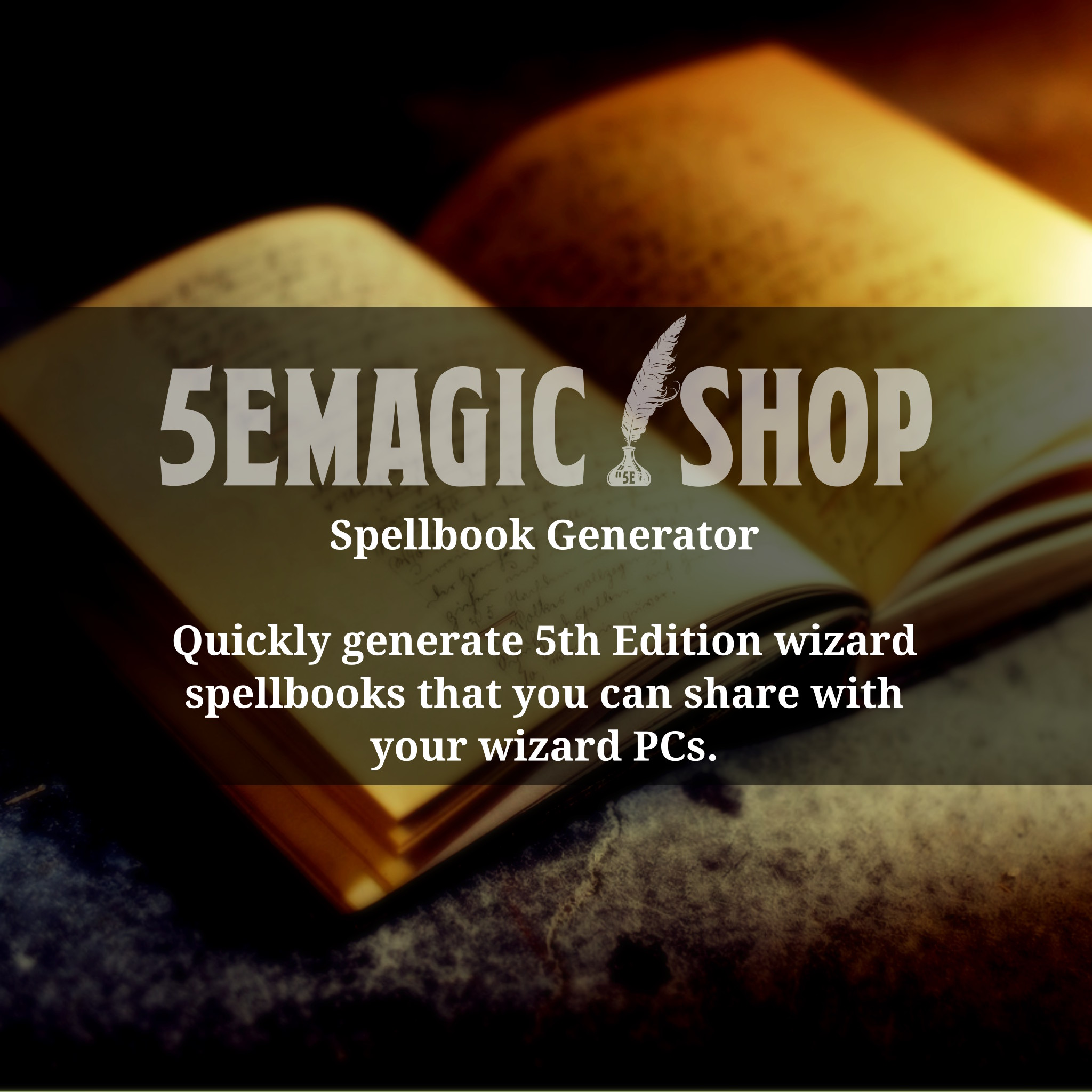 5E Generator wizard's spellbook generator for 5th edition — magic item
